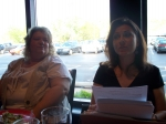 Laurie going over the agenda for the April meeting!