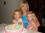 Susan Knight-Badgett and Grandaughter's at 48th Yr.old Birthday 08