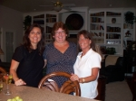 Laurie, Tammy & Carol visiting with Carol's Mom the night before our 30th Reunion!
